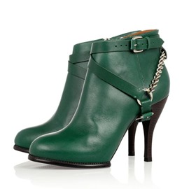 Ericdress Green Belted Fashion Booties