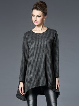 Ericdress Plus Size Irregular Knitwear