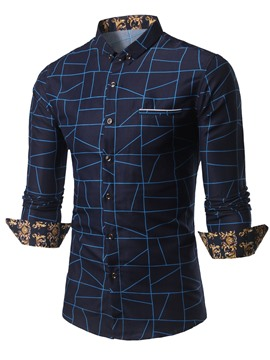 Ericdress Print Quality Long Sleeve Men's Shirt
