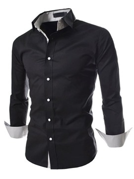 Ericdress Casual Patchwork Long Sleeve Men's Shirt