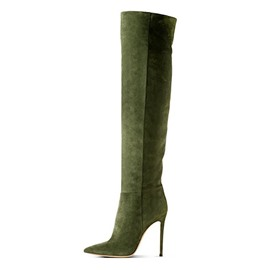 Ericdress Army Green Knee High Boots