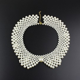 Ericdress Splendid Imitation Pearl Collar Necklace
