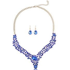 Ericdress Full Crystal Alloy Two Pieces Jewelry Set