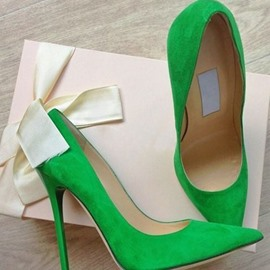 Greenery Stiletto Heels