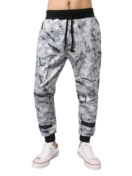 Ericdress Lace-Up Casual Print Men's Pants