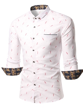 Ericdress Casual Print Long Sleeve Men's Shirt