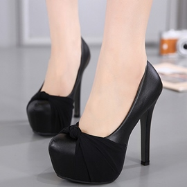 Ericdress Sweet PU Bowtie Platform High Heel Pumps