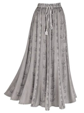 Ericdress Pleated Floral Print Lace-Up Skirts