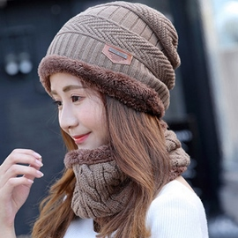 Ericdress Knitted Outdoor Cycling Hat with Neck Warmer