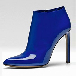 Ericdress Brillant Blue Shine Leather Fashion Booties