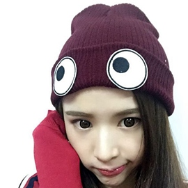 Ericdress Eyes Embroidery Knitted Hat