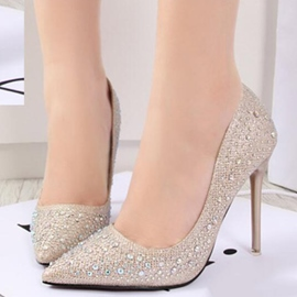 Ericdress Trendy Rhinestone Point Toe Pumps
