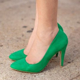 Ericdress Greenery Point Toe Pumps