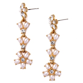 Ericdress Long Imitation Pearl Inlaid Earrings