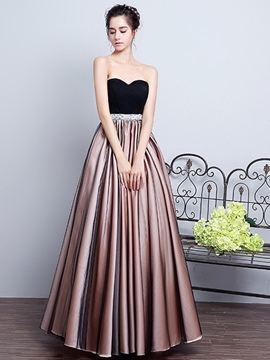 Ericdress A-Line Sweetheart Pleats Sashes Floor-Length Prom Dress