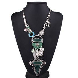 Ericdress Imitation Turquoise Alloy E-Plating Necklace