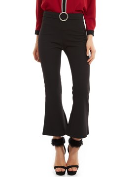 Ericdress Slim Plain Ankle Length Bellbottoms
