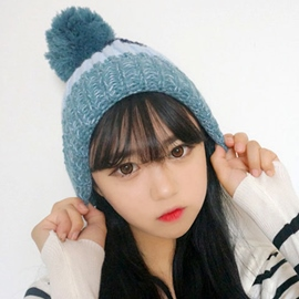 Ericdress Winter Color Block Knitted Hat