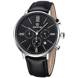 Ericdress Multifunction Three Eyes Dial Men's Watch
