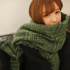Ericdress Warm Green Houndstooth Women's Scarf