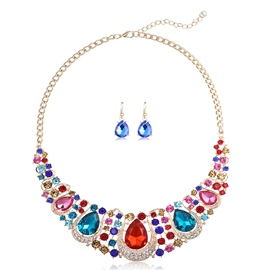 Ericdress Artificial Gems Inlaid Water Drop Jewelry Set