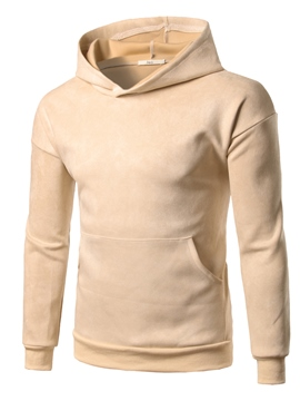 Ericdress Big Pocket Plain Pullover Men's Hoodie