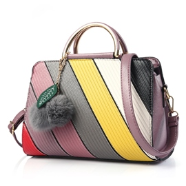 Ericdress Stereo Color Block Thread Handbag