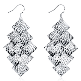 Ericdress Multilayer Square Card Design Pendant Earrings