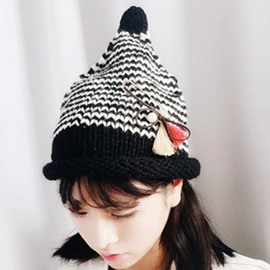 Ericdress Roll Brim Design Stripe Knitted Hat