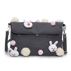 Ericdress Vogue Lovely Rabbit Print Shoulder Bag