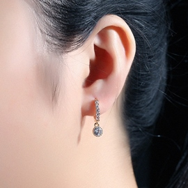 Golden Plated Micro Inlaid Zircon Earrings