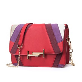 Ericdress Color Block Geometric PU Crossbody Bag