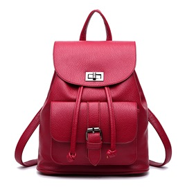 Ericdress Soft Pure Color Travel Backpack