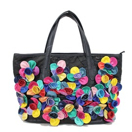 Ericdress Casual Soft Floral Patchwork Handbag