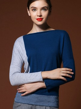 Ericdress Color Block Pullover Stylish Knitwear