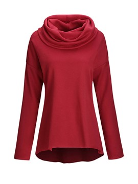 Ericdress Solid Color Heap Hoodie