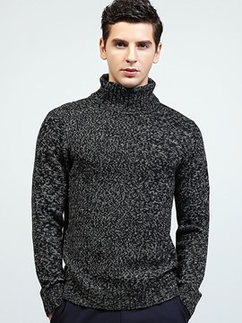 Ericdress England Style Turtleneck Pullover Warm Men's Sweater