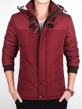Ericdress Thicken Warm Stand Collar Men's Jacket