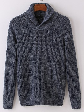 Ericdress Solid Color Unique V-Neck Pullover Men's Sweater