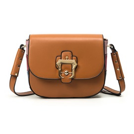 Ericdress Vogue Colorful Patchwork Saddle Crossbody Bag