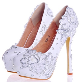 Ericdress Rhinestone Ultra-High Platform Wedding Shoes