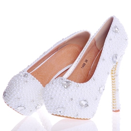 Ericdress Beads Ultra-High Heel Platform Wedding Shoes