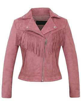 Ericdress Solid Color Slim Tassel Jacket