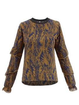 Ericdress Plant Print Long Sleeve T-Shirt