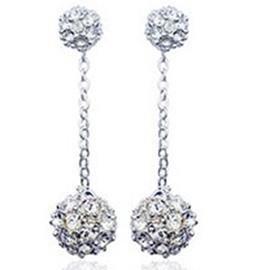 Ericdress Double Crystal Ball Design Earrings
