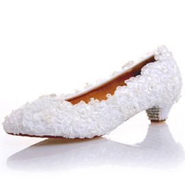 Ericdress Beads Awl Heel Wedding Shoes