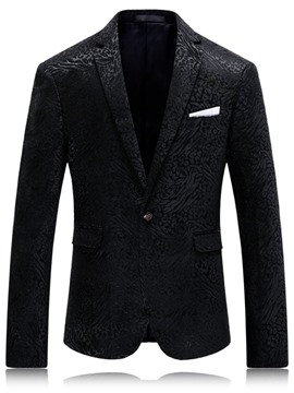 Ericdress Vogue Pattern One Button Formal Men's Blazer