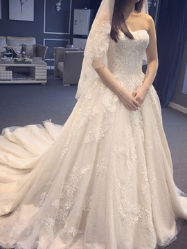 Ericdress Romantic Sweetheart Lace A Line Wedding Dress