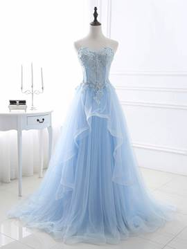 Ericdress Princess A-Line Sweetheart Beading Sequins Long Prom Dress