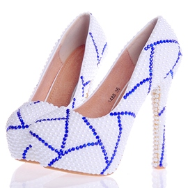 Ericdress Special Beads Ultra-High Heel Wedding Shoes